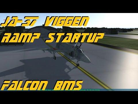 Falcon BMS v4.33 - JA-37 Viggen Ramp Startup