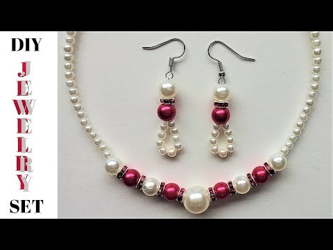 Easy DIY Jewelry set Tutorial. Beaded Jewelry for an elegant outfit