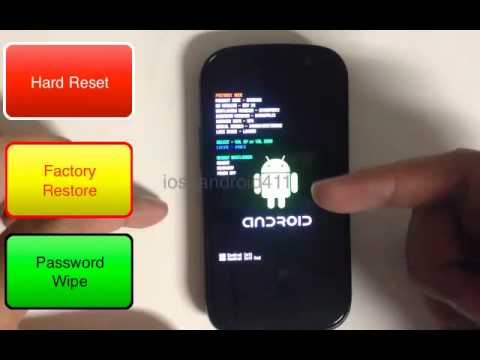 How to Hard Reset Factory Restore Password Wipe the Samsung Galaxy Nexus S by Sprint Tutorial