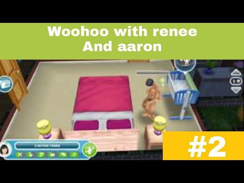 Woohoo with renee and aaron - the sims freeplay #2