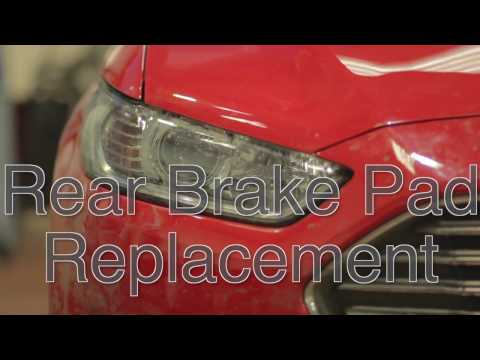 MK5 Ford Mondeo/Ford Fusion rear brake pad replacement