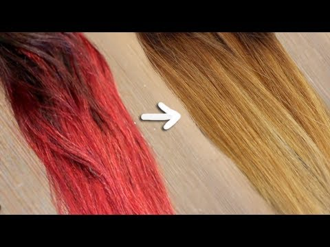 Remove red/bright dye without bleach !