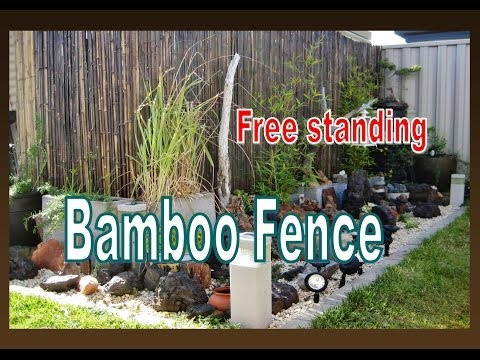 Free Standing Bamboo Fence Installation - In the Garden - Liz Kreate