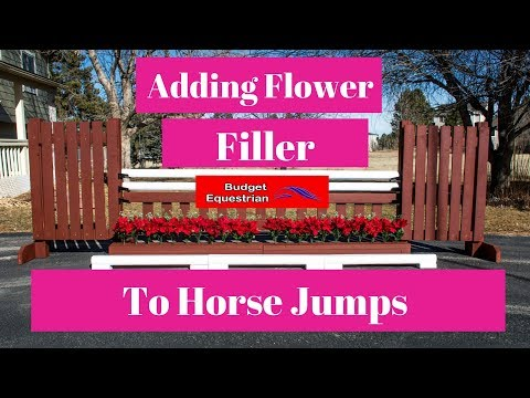 Adding Flowers To Horse Jumps (Hunter Jump Reveal!)