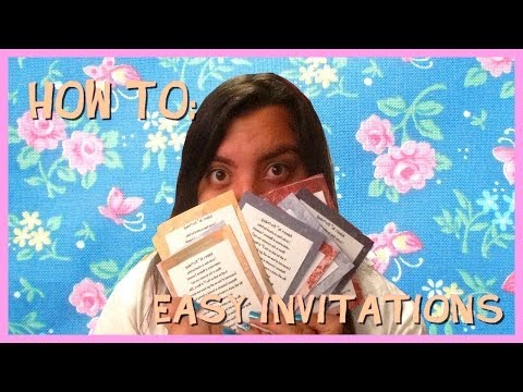 How To Make Cheap and Easy Party Invitations!