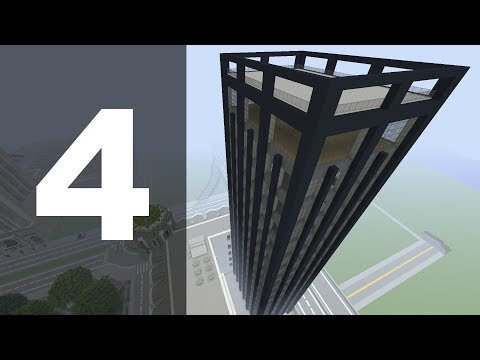 Minecraft Let's Build : 70's Style Skyscraper - Part 4