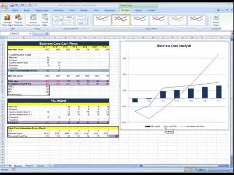 Multiple chart types in an Excel chart