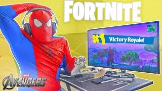 The AVENGERS Playing Fortnite
