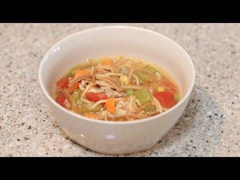 SOPA DE FIDEO CON POLLO | CocinandoConJuanita