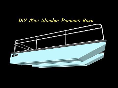 DIY MINI WOODEN PONTOON BOAT