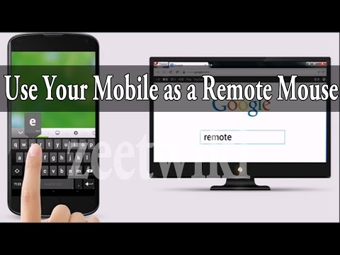 Use Your Mobile as a remote mouse for computer and laptop