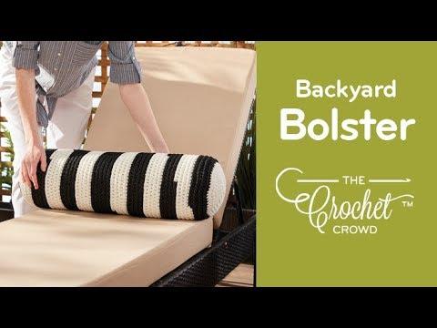 How to Crochet A Bolster Pillow