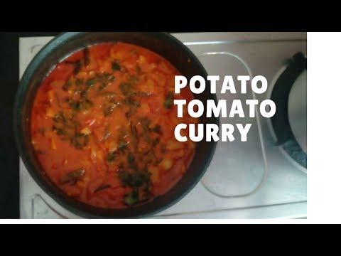 Potato Tomato Curry  | Aloo Tamatar ki sabzi for Rice , Chapati, Puri and Roti