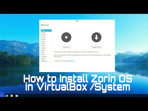 how to install zorin os on virtualbox /system windows 10 ,enable virtualization ,enable PAE