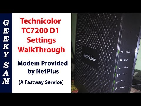 Technicolor TC7200.D1 Modem WalkThrough - Provided By NetPlus Broadband | HIndi