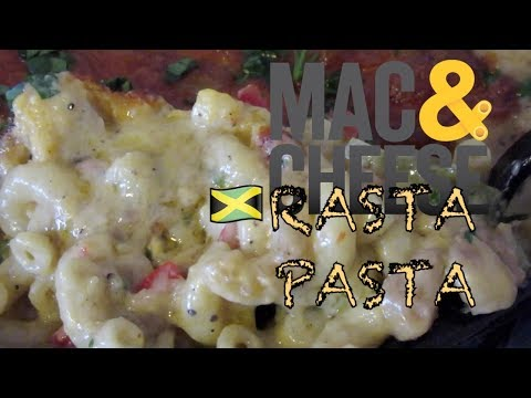 MAC n' CHEESE style RASTA PASTA Recipe on Let's Get Greedy! #60