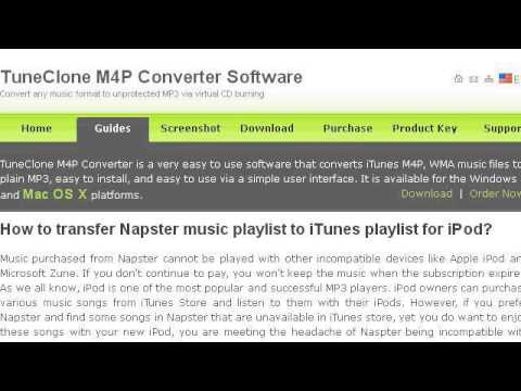 How-To Transfer Tracks In Napster And Itunes