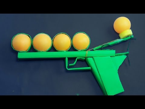 |DIY| How to Make a Paper Gun That Shoots Ping Pong Ball | Toy Weapons