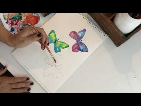 How to Paint a Watercolor Butterfly