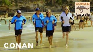 Conan Becomes A Bondi Beach Lifeguard - CONAN on TBS
