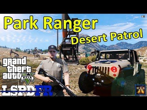 Park Ranger Desert Patrol in a Jeep Wrangler Hellcat | GTA 5 LSPDFR Episode 326