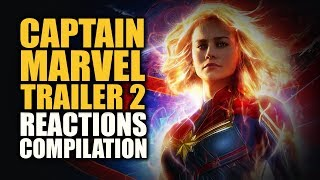 CAPTAIN MARVEL TRAILER 2 Reactions Compilation