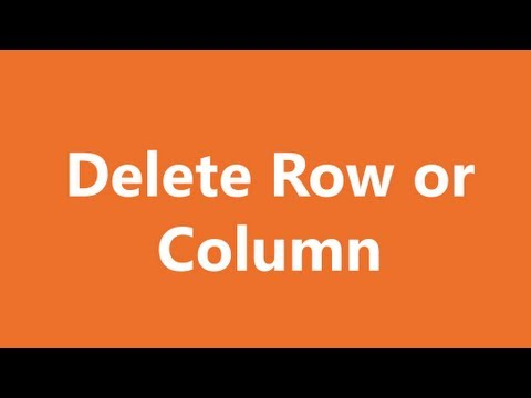 Excel Shortcuts - Delete Rows or Columns