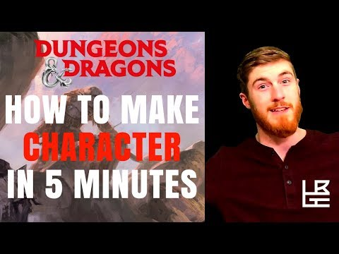 How to Make a Character in 5 Minutes D&D 5e