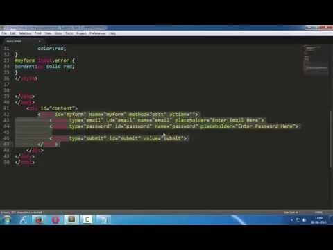 jQuery validation plugin tutorial : Email validation