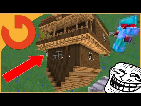 FLIPPING HOUSE UPSIDE DOWN! - Minecraft Trolling (Ep 163)