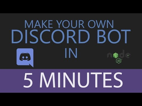 Write A Discord Bot In 5 Minutes