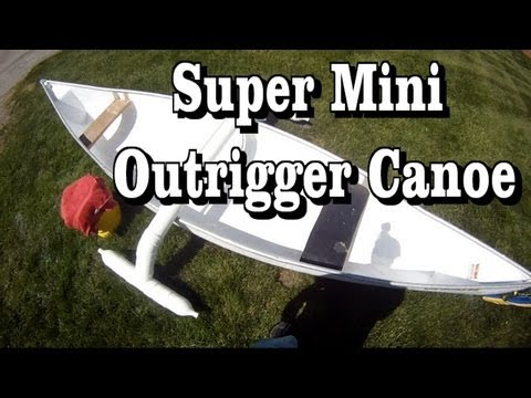How to make a cool Mini Outrigger Canoe or Kayak stabilizer for $20 a stable fishing canoe platform