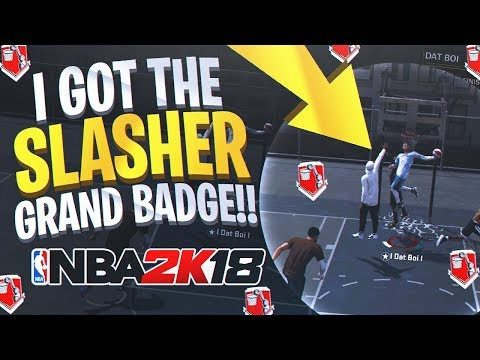 99 SPEED + CONTACT DUNKS + GRAND BADGE = PLAYMAKING SLASHER BUILD - NBA 2K18