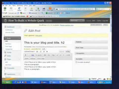 How To Use WordPress - Header Tags
