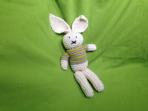 How to Loom Knit a Stuffed Bunny Toy (DIY Tutorial)