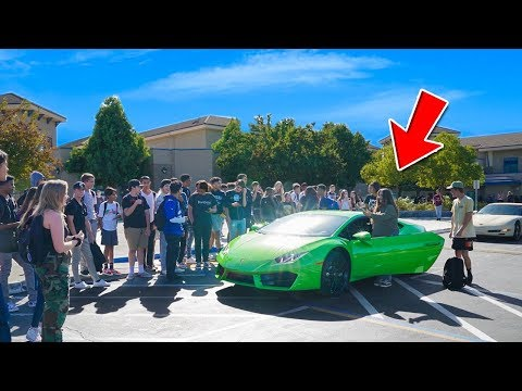 Xxx Mp4 Picking Up Little Sister From High School In LAMBORGHINI 3gp Sex