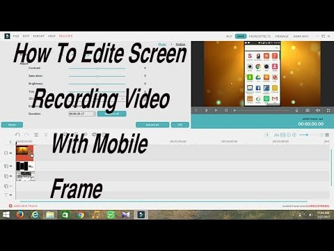 How To Edit Screen Recording Video With Mobile Frame