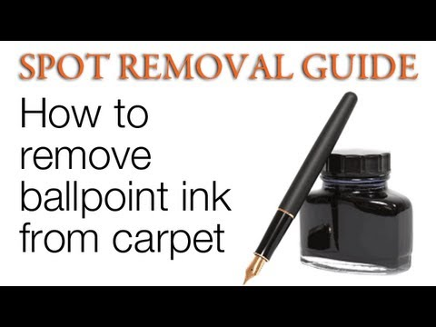 How to get ink out of Carpet - Ballpoint Ink | Spot Removal Guide