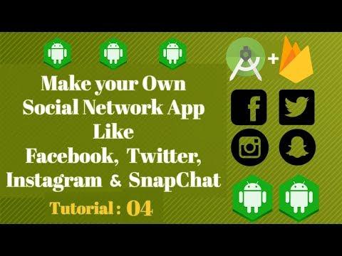 Android Studio Social Network App using Firebase - Tutorial 04 - Navigation Header Android