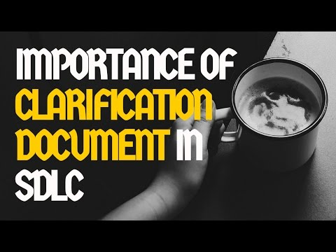 Importance of clarification document in software development