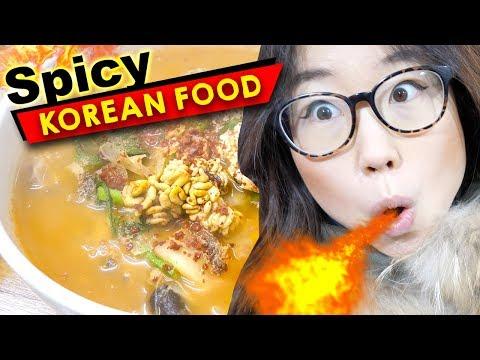 SPICY KOREAN FOOD at Traditional Korean Market