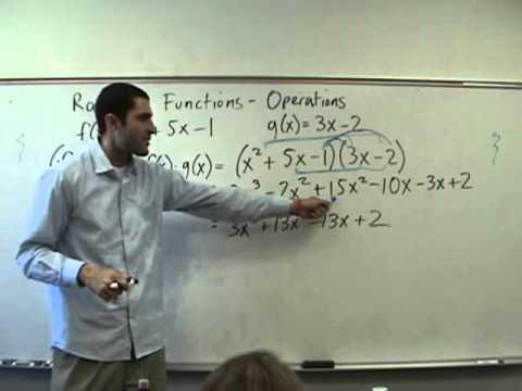 Algebra 2 - Operations on Functions - (f o g)(x)