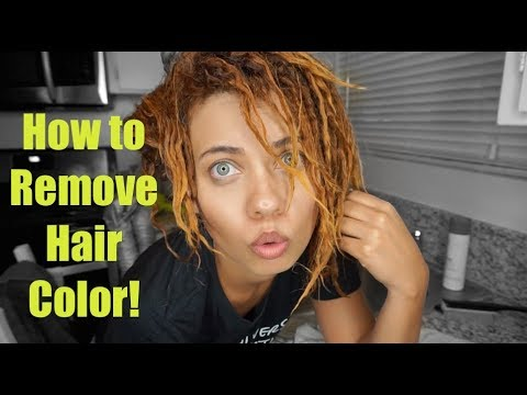 BEST HAIR COLOR REMOVER! | How to Remove Artificial Hair Color | NO BLEACH | Brittney Gray