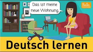 Download Deutsch lernen mit Dialogen / Lektion 15 / Wie gefällt dir deine Wohnung? / Aussprache ″h″ Video