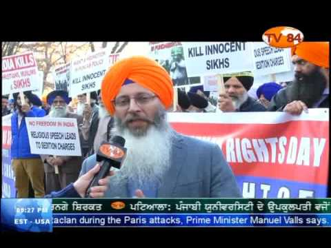 Sikhs Protest In Front Of Indian Consulate New York On Human Rights D