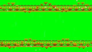 Green Screen Heart Animation for Whatsapp and Wedding Projects