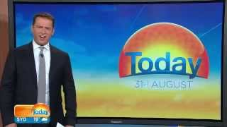Shocked Reaction Of TV Host When He Sees A Massive Shark Jump Out Of The Water