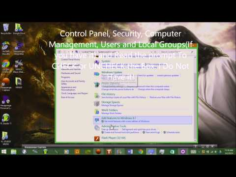 How to change your administrator settings on your computer (Tutorial) (WINDOWS 8)