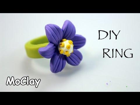 DIY Ring flower - Polymer clay tutorial