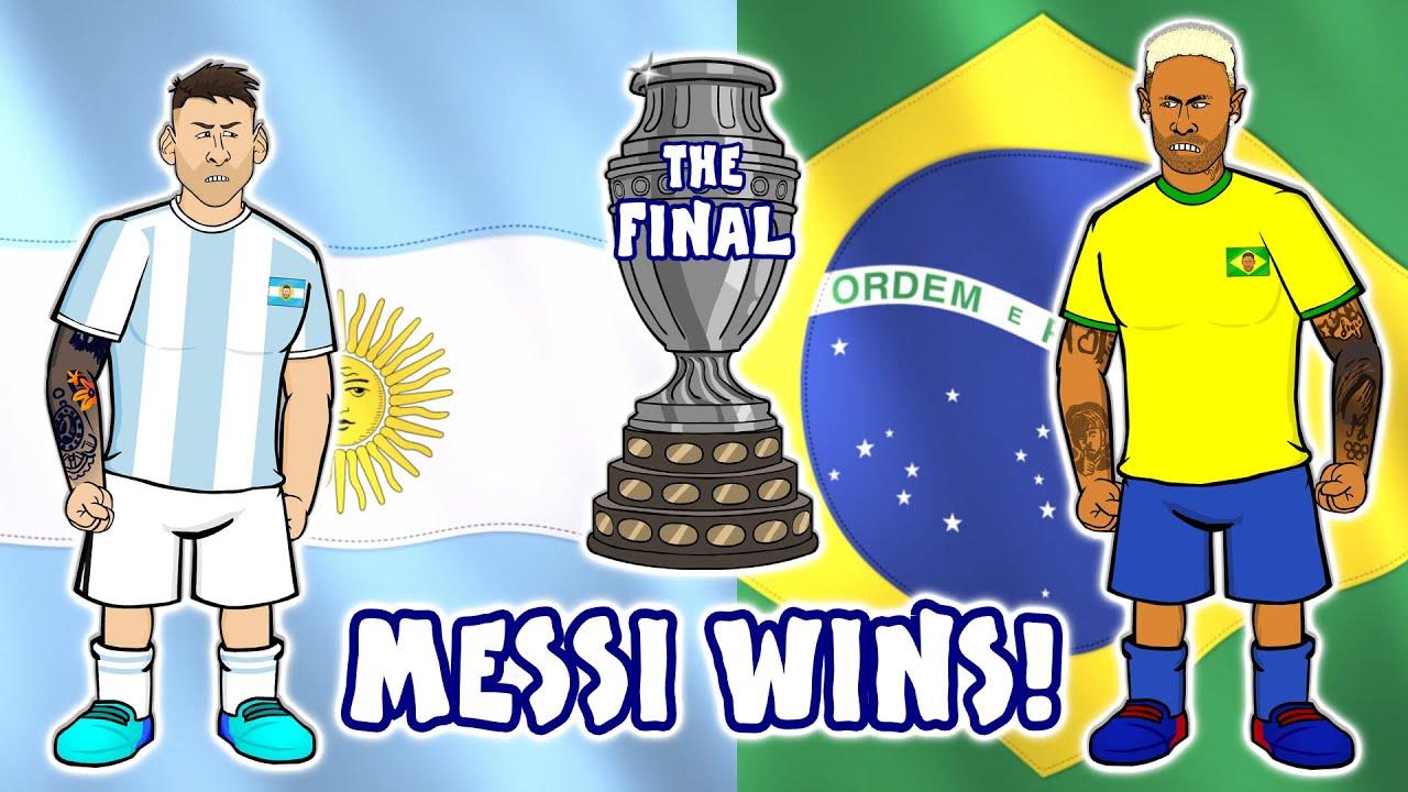 🏆Messi wins Copa America!🏆 (HIGHLIGHTS ARGENTINA 1 - 0 BRASIL   COPA AMÉRICA 2021   10-07-21)